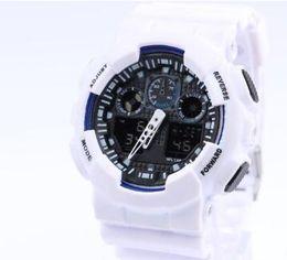 relógio lona de couro feminino Desconto 2018 Novos Homens Relógios Desportivos Cor Original Todos Função Led À Prova D 'Água relógios de pulso de Luxo Relógio Digital 12 cores