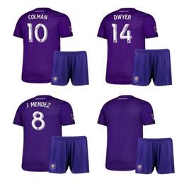 Orlando fußball jersey online-2020 Orlando Kids Kit Home # 10 KAKA Fußball-Trikot 19/20 # 10 COLMAN # 14 DWYER BOYS Fußball-Shirt J.MENDEZ PATINO Fußballuniformen