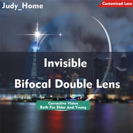 12ee3592ff 2PCS 1.56 Invisible Bifocal Double Lens Spectacle Frame Mope-eyed  Presbyopia Prescription Lens Correction Vision Anti Reflection JH-G097