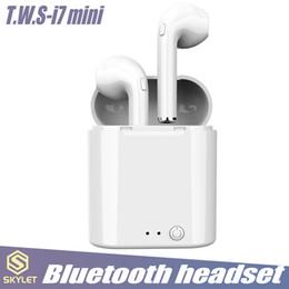2019 микрофон для беспроводных наушников I7 TWS мини наушники Беспроводные наушники Bluetooth 4.2 стерео наушники гарнитура с зарядки Box микрофон для IOS и Android системы в коробке дешево микрофон для беспроводных наушников