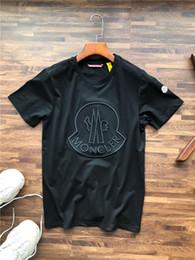 Logos de mode de broderie en Ligne-19ss mode marque conception MC poitrine broderie grand logo autour du cou T-shirt des hommes de la mode féminine respirant streetwear T-shirt en plein air