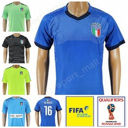 İtalya Futbol 21 Andrea Pirlo Forması Italia 2018 Dünya Kupası 16 DE ROSSI Futbol Gömlek Kiti 10 INSIGNE 8 MARCHISIO Kaleci 12 SONNA RUMMA supplier soccer jerseys pirlo nereden futbol formaları pirlo tedarikçiler