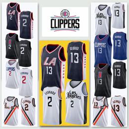 2019 camisa barata Muito popular Homens Paul Leonard baratos Jerseys Clipper George bordado Logos Jersey costurado Kawhi frete grátis desconto camisa barata