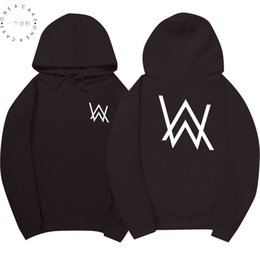 belt black star Promo Codes - Winter Fleece Sweatshirt Alan Walker Faded Hoodie Men Sign Printing Hip hop Rock Star sweatshirt Fleece black band hoodies men
