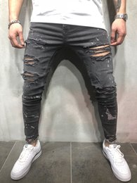 Jeans cerca online-Cool2019 Leisure Code European Time Wash Wear Cerrar Doblar Jeans Bhc-lp Hk
