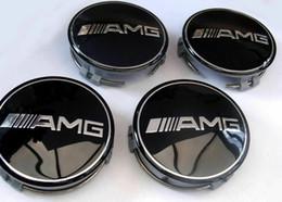 Центральная крышка ступицы колеса онлайн-4x Mercedes Benz Легкосплавные колесные диски Колпаки 75мм Значки ЧЕРНЫЙ AMG Ступицы с эмблемой Обода стайлинга автомобилей