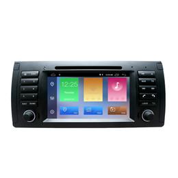 2din auto dvd radio gps android 9.0 1024 * 600 Quad core per BMW E39 E53 M5 (1996-2007) con Bluetooth Phonelink BT 1080P da bmw dash dvd fornitori