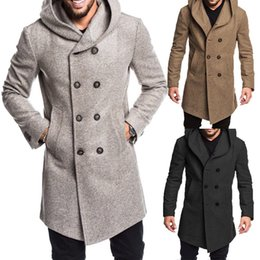 bf46f055a60d suit overcoats Coupons - British Style Men Overcoat Long Jacket Wool Trench  Warm Winter Blends Coat