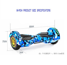 Nouveau 8 pouces grand pneu de skateboard électrique à double moteur à deux roues de cross-country scooter Hoverboard avec haut-parleur bluetooth ? partir de fabricateur