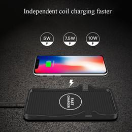 Qi Wireless Mount Auto Ladegerät Handyhalter Universal Stabiler Schutz Silikon Pad Fast Black Mat Anti Slip Für Samsung von Fabrikanten