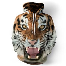 hoodie animale tigre Sconti Animal Tiger Hoodie Uomini Donne Kid Sweatshirt 3d Print Streetwear Clothes