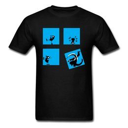Ants Party Magliette Uomo Hip hop T-Shirt Nero Blu T Shirt 100% Cotone Top Tees per Gruppo Faddish Abbigliamento all'ingrosso da