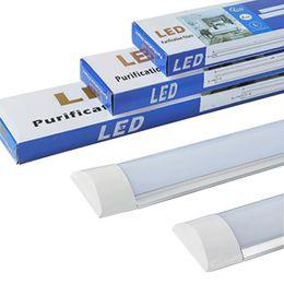 luces de tubo de cocina Rebajas Tubo de luces de tubo lineal LED de LED Lámpara de tubo de purificación de luz de techo LED para oficina Salón Baño Cocina Garaje Warehous