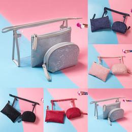 кружевная косметика Скидка Европейская повседневная женская сумка через плечоCreative Bride Кружева косметическая сумка из трех частей косметическая сумка для хранения для 2019 bolsa feminina # 7