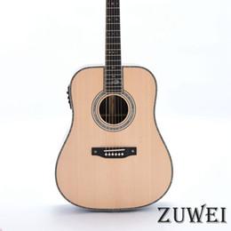 Starshine Full Solid Customized LYL0242YY Guitarra acústica Diapasón de ébano Tuerca de hueso Abulón de palisandro sólido Encuadernación de cuerpo desde fabricantes