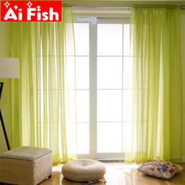 Tessuto di lino blu online-Colorful Nordic lino tende in tessuto garza tende pure per soggiorno del tutto-fiammifero cortina Francese Tulle AP276-40