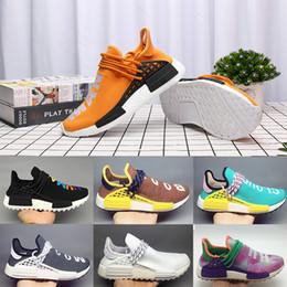 d5b9c9494 Human race Hu trail x pharrell williams Nerd men running shoes black white cream  SOLAR PACK mens trainers for women sports sneaker 36-47