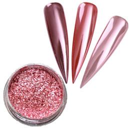 Glitter fornecedores on-line-2g / Box Rose Gold Espelho Prego Brilho UV Gel Polonês Chrome Pigmento Poeira Manicure Nail Art Decoração Em Pó Fornecedor Por Atacado