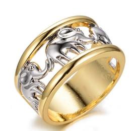 dual-chip-handys Rabatt Valentinstag Anel Geschenk Gold Silber Elefant Ring für Männer Schmuck Hochzeit Anillos Engagement Statement Hollow Ring
