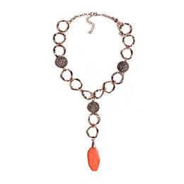 Acryl kettenglieder online-Mode Europa und Amerika Frauen Wasser Welle Kette Legierung Anhänger Halsketten Verkupferung Hoop-Linked Chain Acryl Halskette