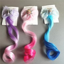 Adereços de peruca on-line-adereços Cosplay princesa hairpin bonitas para Artificial cabelo headwear festa infantil Cor Wig Party Favor Hair Extensions T2I51067