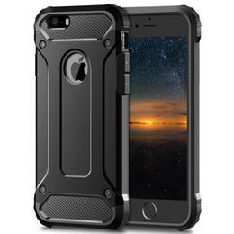 Housses iphone robustes en Ligne-Coque blindée hybride rigide en TPU 2 en 1 pour iPhone 5 5S SE Coque antichoc robuste pour iPhone 6 6S 7 8 Plus X XS Max XR Coque