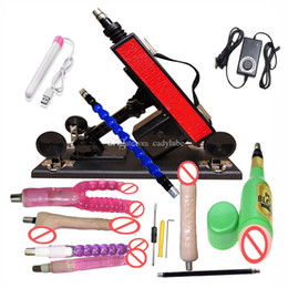 canons à jouets Promotion Sex Machine Gun / Cannon avec de nombreux accessoires de gode Masturbation masculine Love Machine automatique Sexual Intercourse Robot Sex Toys pour femmes