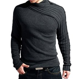 0f361175672ef Oeak Spring Turtleneck Sweater Men Brand Fashion Solid Knitting Sweater  Male Casual Striped Outwear Slim Fit Pullover Homme 2019