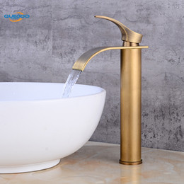 Vasca da bagno rubinetto in ottone bronzo antico rifinito rubinetto lavello miscelatore rubinetto vanità rubinetti del bagno di acqua fredda calda supplier hot taps da rubinetti caldi fornitori