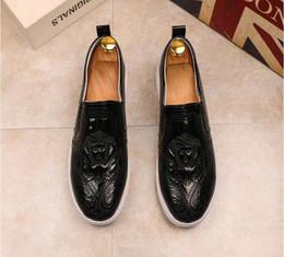 Cuir en Ligne-Cuir formelle Shose Mode Hommes Affaires Robe Mocassins Pointy Noir Oxford Respirant Chaussure De Mariage U13