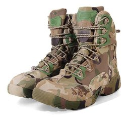 Chaussures de randonnée camouflage en plein air bottes armée désert bottes militaires tactiques chaussures imperméables anti-dérapantes bottes de combat haute / basse ? partir de fabricateur