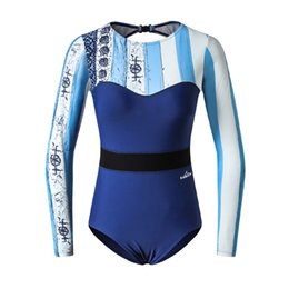 rash guards women swim Promo Codes - Best Selling Surf Suit T Shirt for Swimming Surfing Suit Backless Sexy Swimwear Women One Piece Quick Dry Rash Guard Trendy New Swimsuit