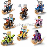 Bloques de construcción de motocicletas online-POGO World Block JLB Bloques de construcción Ladrillos de autobloqueo Motocicleta Muñecas educativas para niños Regalos Figuras de acción Juguete Jinetes