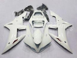 blanco yamaha r1 plastico Rebajas La inyección de la motocicleta blanca de plástico ABS Carrocería Kit carenado para Yamaha YZF R1 2002-2003 02 03