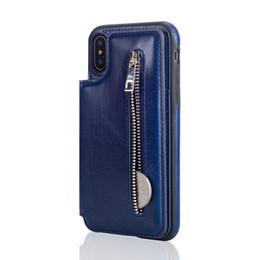 2019 preço do telefone Novo para iPhoneXS MAX zipper multi-função xr phone case Samsung S9 caso de telefone móvel preço de atacado preço do telefone barato