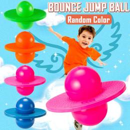 дети прыгают в мяч Скидка Pogo Ball Hopper Sport High  Bounce Jump Board Ball Fitness with Inflating Pump for Kids