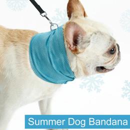 Collari di raffreddamento per animali online-Instant Ice Cooling Dog Bandana Sciarpa per cani di piccola taglia Bulldog Summer Polyester Sunstroke Cooling Neck Wrap collare per cani perro