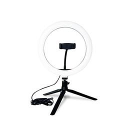 treppiede Sconti Anello di luce LED Photo Studio Video dimmerabile lampada LED SMD Treppiede Progettazione Stand selfie Camera Phone per la Fotografia