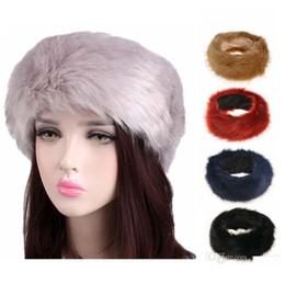 Bandeau d'oreille blanc en Ligne-10 couleurs Womens fausse fourrure bandeau hiver chaud noir blanc Nature filles cache-oreilles cache-oreilles