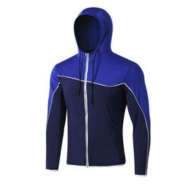 Gli uomini giacca sportiva con cappuccio a maniche lunghe Zipper cuciture colore tasche Slim Cappotto da abbigliamento di prodotti secchi fornitori