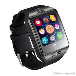 2019 tarjeta sim lg Happy Smart Watch Q18 Pulseras inalámbricas inteligentes NFC Cámara remota SIM Tarjeta Pasómetro para ios / Android Samsung htc lg relojes inteligentes facebook tarjeta sim lg baratos