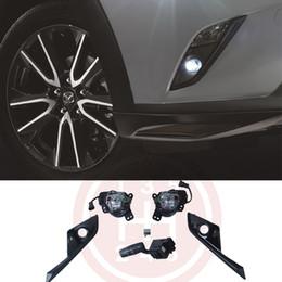 faróis de nevoeiro mazda cx Desconto Luzes de nevoeiro LEVOU Kit Lâmpada para Mazda CX-3 cx 3 2016 2017 2018 2019