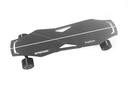 Skate elétrico Sports X6 Impulsionado Longboard alta Dureza Alumínio-Aço Alloy 4 Modo de velocidade com Wireless Spadger Controle Remoto de