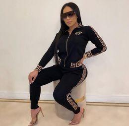 nuove donne manica lunga a due pezzi della mutanda della camicia insieme abiti Tuta da jogging cadere Sportswear moda di lusso di abbigliamento femminile da