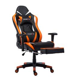 Ergonomischer sitz online-Game Chair Ergonomische Rückenlehnen- und Sitzhöhenverstellung mit Kopfkissen, verstellbarer Wippenkopfstütze und E-Sports-Stuhl mit Neigung zur Lendenwirbelsäule
