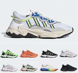 adidas yeezy Original Pride 3M Reflective Xeno Ozweego Uomo Donna Scarpe da corsa Verde Giallo Halloween Toni Core Nero des chaussures Sneakers