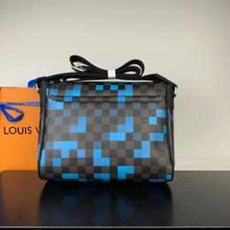 malha de diamante Desconto Novo clássico de alta qualidade simples padrão de impressão saco de cadeia de couro macio ombro bolsa treliça de diamante crossbody bolsa messenger bag p-s3