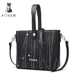 foxer brand handbags Promo Codes - FOXER Brand New Fashion Lady Graffiti Handbag Korean Version Shoulder Bags Exclusive Customization Women Crossbody Bags