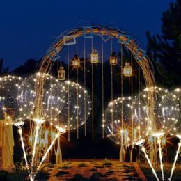 Illuminazione di palloncini online-Palloncini luminosi a LED Palloncini rotondi trasparenti con elio Decorazioni per feste di compleanno per matrimoni Palloncini luminosi a LED per bambini