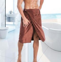 Bolsos mágicos on-line-Homens Wearable toalha Mágica Mircofiber Toalha De Banho Com Bolso De Natação Suave Bath Towel 140 * 70 KKA6839
